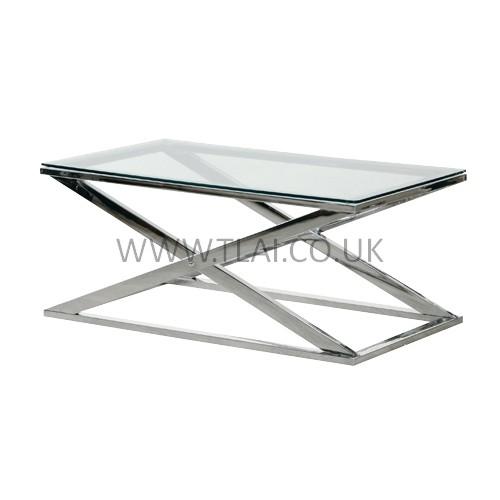 Wonderful Elite Rectangle Glass Chrome Coffee Tables Regarding Glass Coffee Table With Chrome Legs (View 8 of 50)