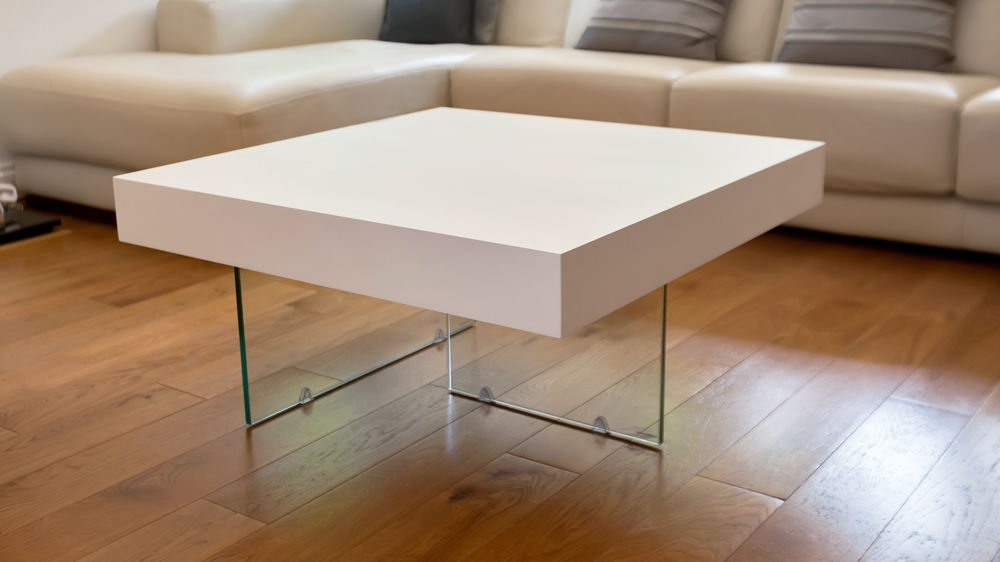 Wonderful Elite White And Oak Coffee Tables Throughout Large White Coffee Table (Image 45 of 50)
