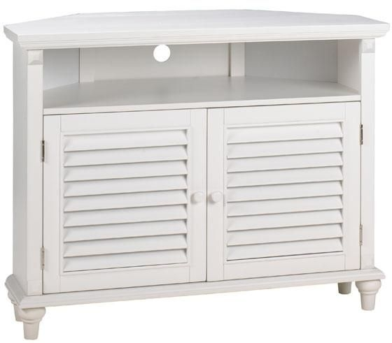 Wonderful Elite White Corner TV Cabinets In Savannah Louvered Door Corner Tvdvd Cabinet Tv Cabinet Wood (Image 47 of 50)
