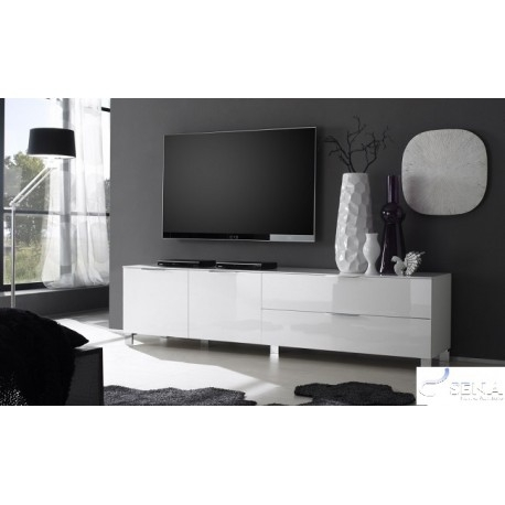 Wonderful Elite White High Gloss TV Stands Unit Cabinet Throughout Solo I High Gloss Tv Stand Tv Stands Sena Home Furniture (Image 47 of 50)