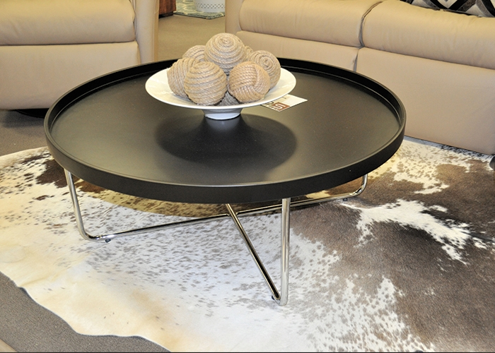 Wonderful Famous Black Circle Coffee Tables Inside Black Round Coffee Tables (Image 48 of 50)