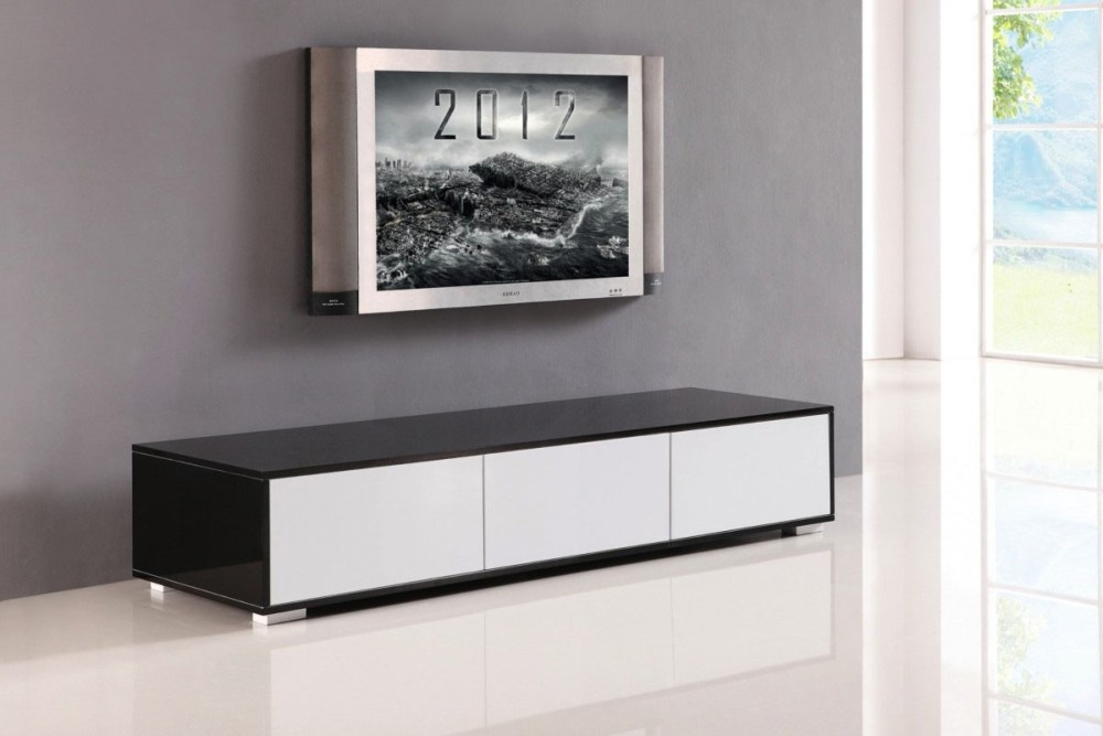 Wonderful Famous Contemporary Black TV Stands Pertaining To Contemporary Wood Tv Stand Home Design Ideas (View 46 of 50)