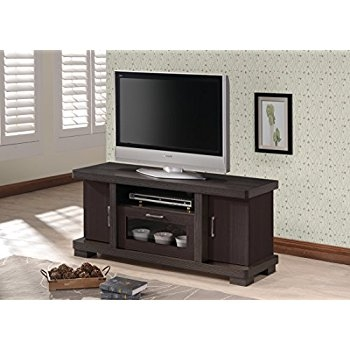 Wonderful Famous Dark Wood TV Cabinets With Regard To Amazon Wholesale Interiors Baxton Studio Viveka Dark Brown (Image 46 of 50)