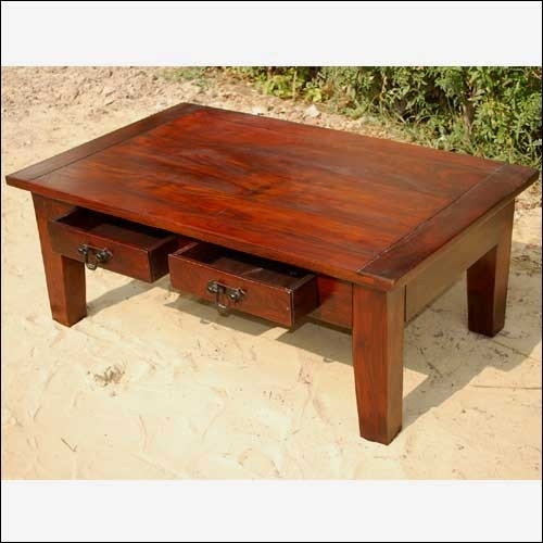 Wonderful Famous Hardwood Coffee Tables With Storage Pertaining To Large Wood Coffee Table (View 6 of 50)