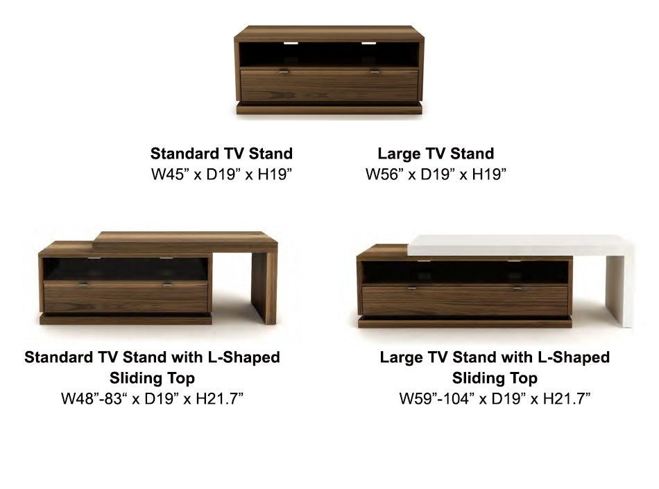 Wonderful Famous L Shaped TV Stands Regarding Escape Tv Stand Up Huppe Tv Stands Living Room (Image 44 of 50)