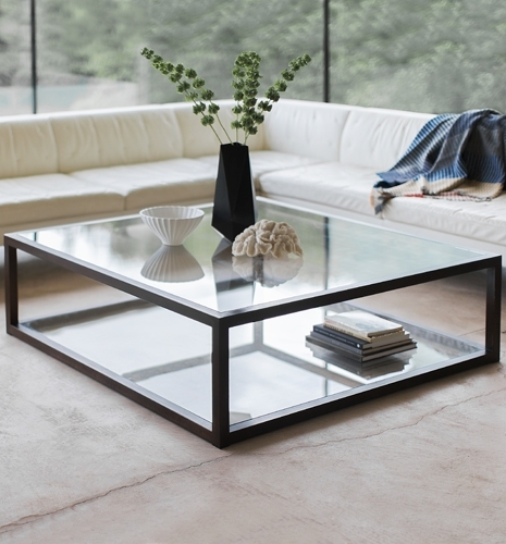 Wonderful Famous Large Square Glass Coffee Tables With Regard To Large Glass Coffee Table (Image 50 of 50)
