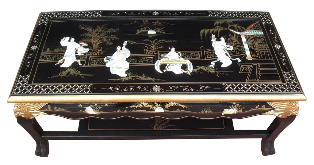Wonderful Famous Mother Of Pearl Coffee Tables Intended For Grand International Decor Mother Of Pearl Coffee Table With (Image 46 of 50)