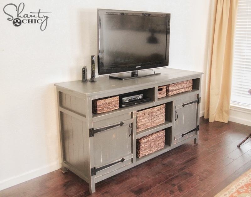 Wonderful Famous Rustic TV Cabinets Inside Rustic Media Center Free Diy Plans Rogue Engineer (Image 48 of 50)