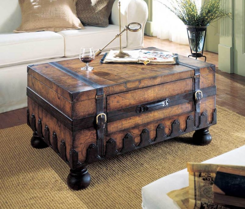 Wonderful Famous Silver Trunk Coffee Tables Within Storage Coffee Table Silver Trunk Coffee Table Diy Chest Coffee (Image 38 of 40)