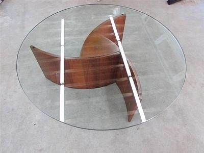 Wonderful Famous Swirl Glass Coffee Tables For Mid Century Danish Modern Lane Glass Top Teak Wood Coffee Table (Image 46 of 50)