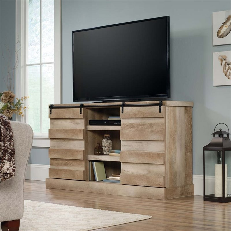 Wonderful Famous TV Stands In Oak With Regard To Sauder Cannery Bridge Tv Stand In Lintel Oak (View 43 of 50)