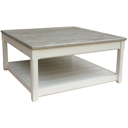 Wonderful Famous White Cottage Style Coffee Tables Within White Square Coffee Table (Image 47 of 50)