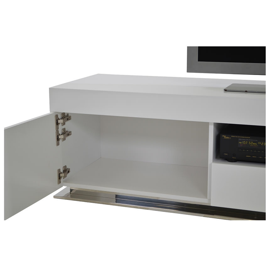 Wonderful Famous White Gloss TV Stands Inside Grand Night White Gloss Tv Stand El Dorado Furniture (Image 50 of 50)