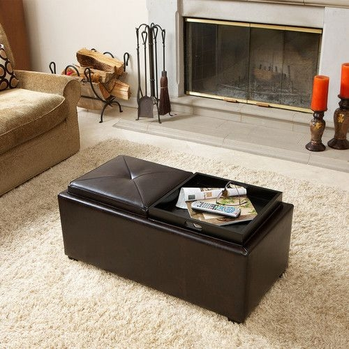 Wonderful Fashionable Brown Leather Ottoman Coffee Tables Intended For 18 Best Leather Coffee Tableottoman Images On Pinterest (View 9 of 50)