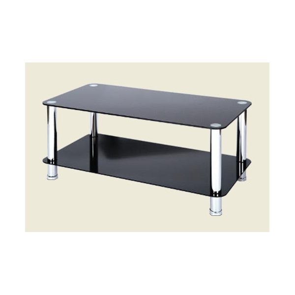 Wonderful Fashionable Chrome And Glass Coffee Tables Regarding Black Glass Coffee Table (Image 48 of 50)