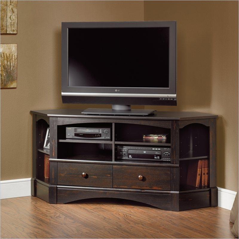 Wonderful Fashionable Dark Oak Corner TV Cabinets Intended For Tv Stands 10 Inspiring Design Of Corner Tv Tables For Flat (Image 48 of 50)