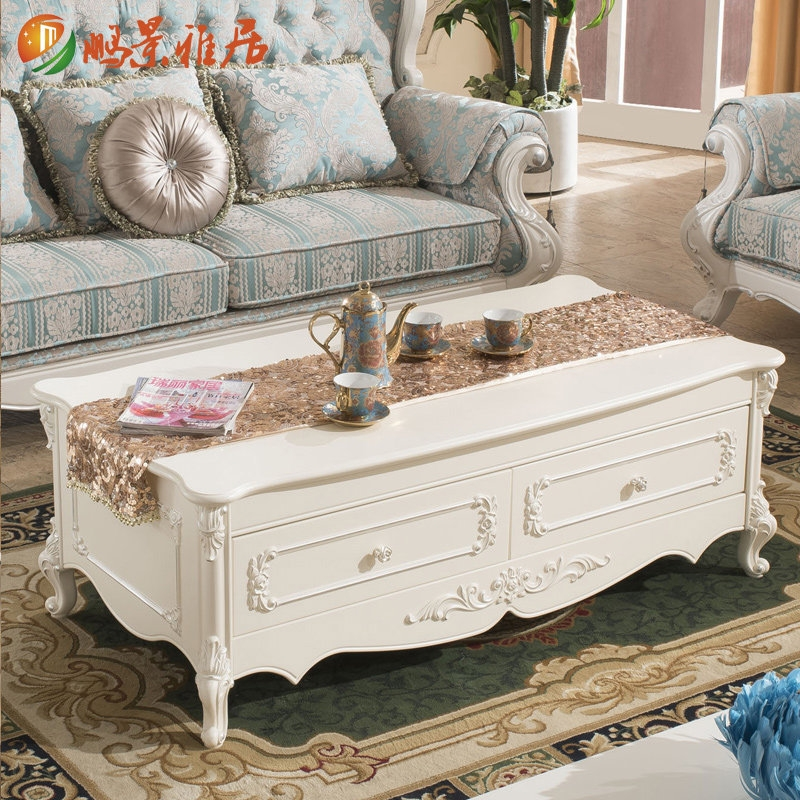 Wonderful Fashionable French White Coffee Tables Intended For Jing Agile Continental Living Room Coffee Table Kung Fu Tea Table (View 14 of 50)