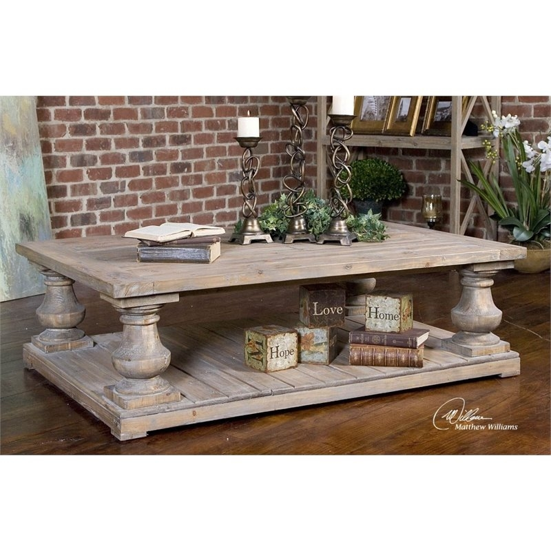 Wonderful Fashionable Grey Wash Coffee Tables With Uttermost Stratford Coffee Table In Stony Gray Wash (View 12 of 50)