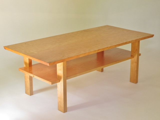 Wonderful Fashionable Hardwood Coffee Tables With Storage Inside Solid Wood Coffee Table In Cherry Walnut Or Tiger Maple Coffee (View 30 of 50)