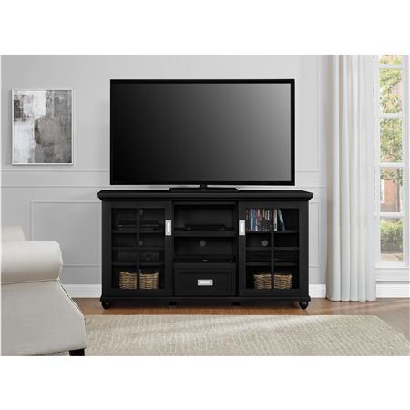 Wonderful Fashionable Lane TV Stands Regarding Ameriwood Furniture Aaron Lane Tv Stand Buffet Black (Image 48 of 50)