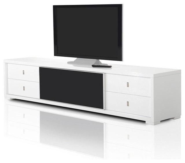 Wonderful Fashionable Modern White Lacquer TV Stands Regarding Aa519 227 White Crocodile Textured Lacquer Entertainment Tv (Image 46 of 50)