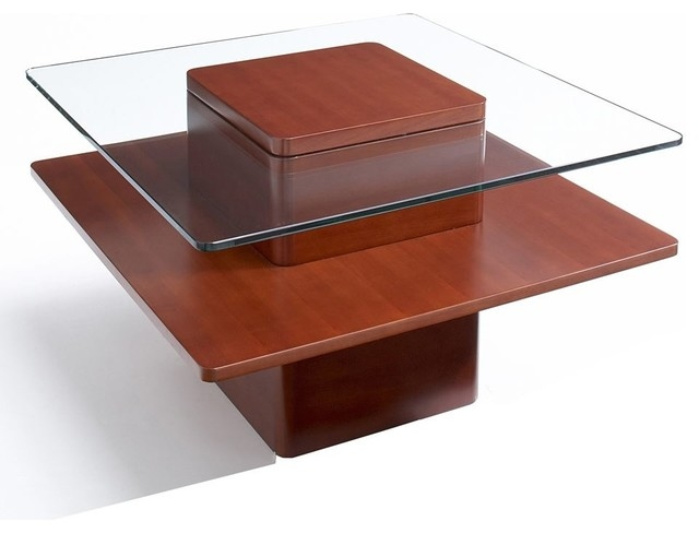 Wonderful Fashionable Square Wooden Coffee Tables In Square Wood And Glass Coffee Table (Image 44 of 50)