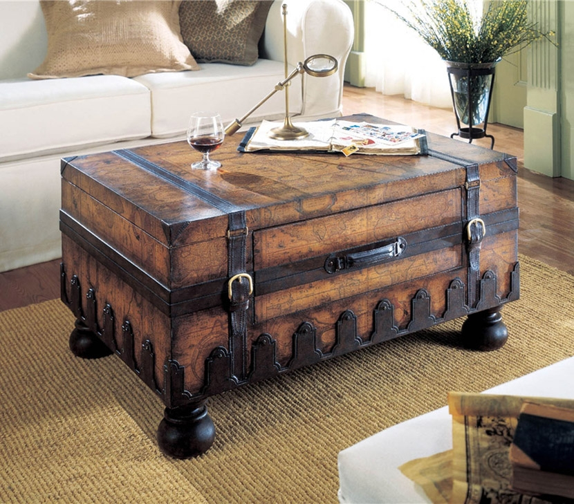 Wonderful Fashionable Vintage Glass Top Coffee Tables Regarding Antique Coffee Table Ideas (View 43 of 50)