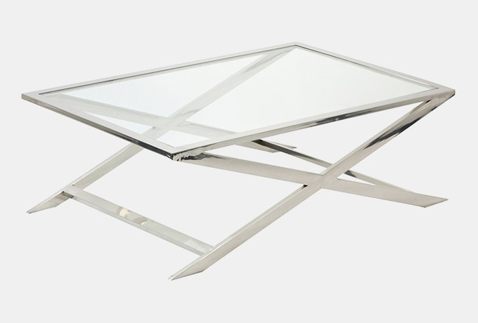 Wonderful Favorite Aluminium Coffee Tables Intended For Rectangular Aluminium Glass Coffee Table Wesley Barrell (Image 45 of 50)