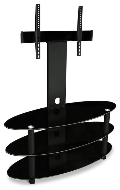 Wonderful Favorite Black Oval TV Stands With Regard To Mi 865 Oval Extra Large Entertainment Center Audiovideo Shelving (Image 45 of 50)
