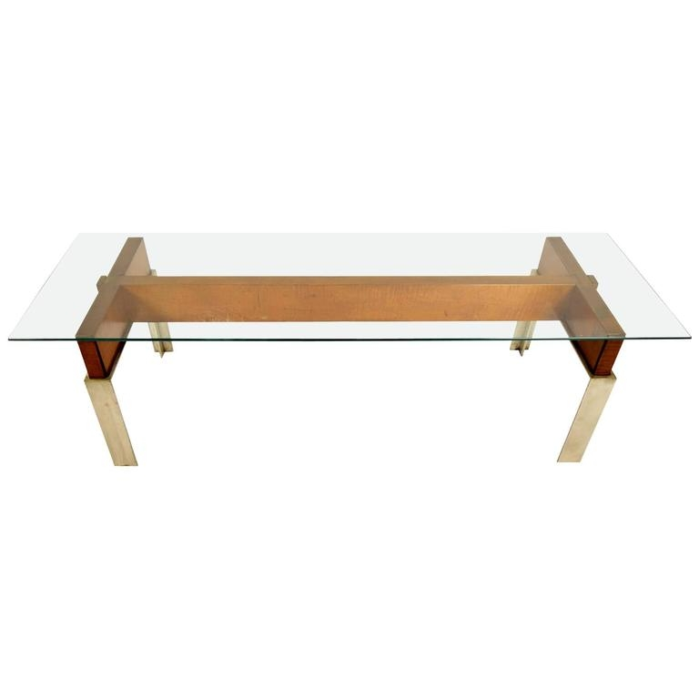 Wonderful Favorite Chrome And Wood Coffee Tables For Mid Century Modern Chrome And Wood Coffee Table For Sale At 1stdibs (Image 46 of 50)