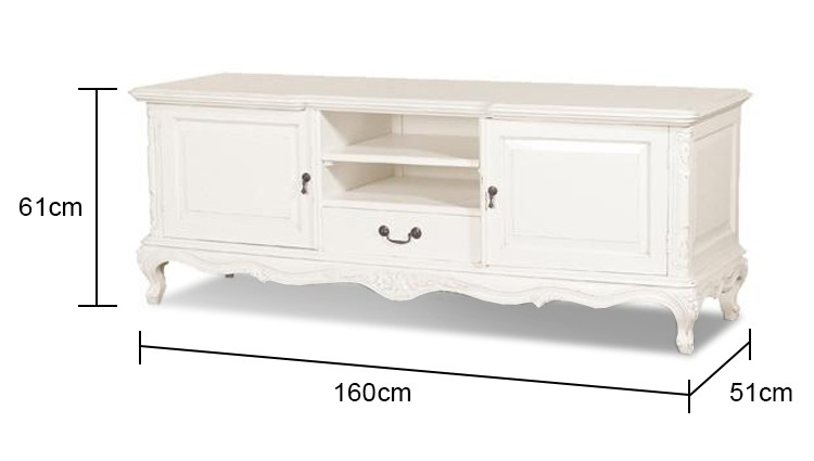 Wonderful Favorite French TV Cabinets Within Tv Unit In White (Image 48 of 50)
