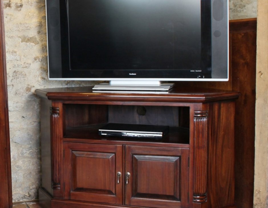 Wonderful Favorite Mahogany Corner TV Cabinets Throughout Corner Television Cabinet Mahogany Akd Furniture (View 18 of 50)