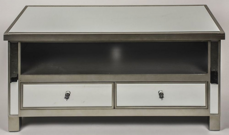 Wonderful Favorite Mirrored TV Cabinets Regarding Buy Opera Mirrored Tv Cabinet With 2 Drawer Online Cfs Uk (Image 50 of 50)