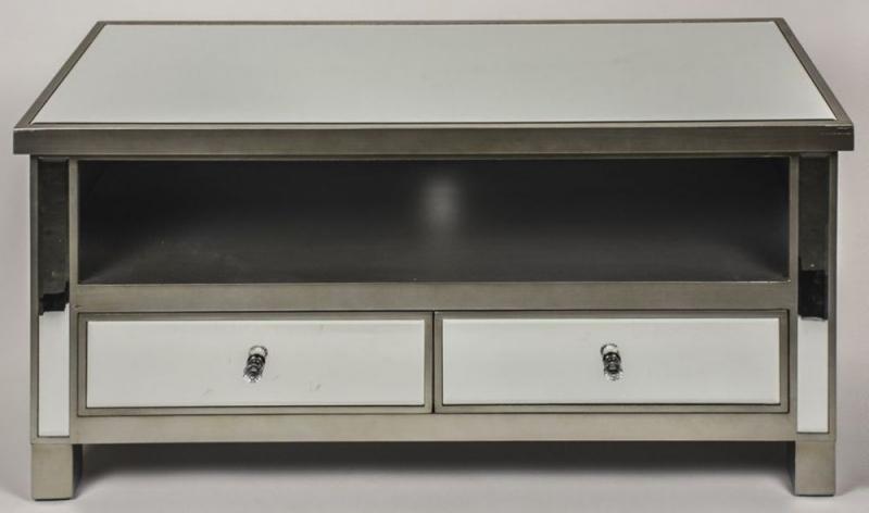 Wonderful Favorite Mirrored TV Cabinets Regarding Buy Opera Mirrored Tv Cabinet With 2 Drawer Online Cfs Uk (View 22 of 50)