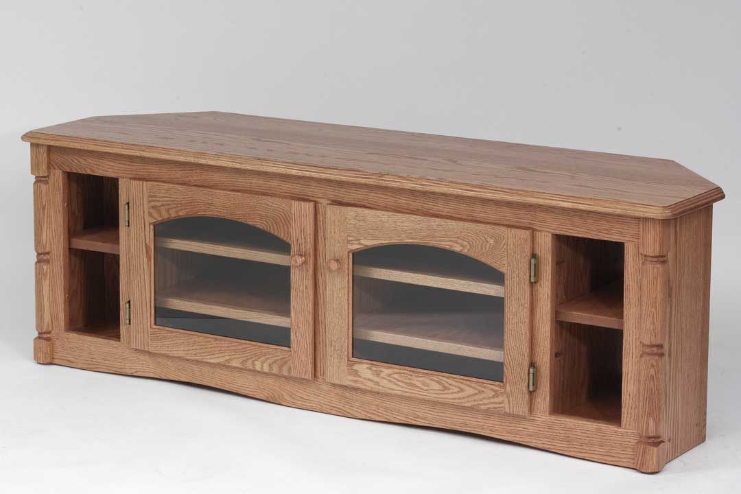 Wonderful Favorite Real Wood Corner TV Stands With Regard To Custom Solid Wood Tv Stand Country Oak Plasma Lcd Corner Oak (View 2 of 50)