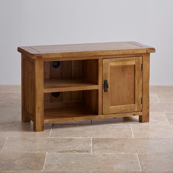 Wonderful Favorite Solid Oak TV Cabinets Intended For Original Rustic Tv Cabinet In Solid Oak Oak Furniture Land (Image 47 of 50)