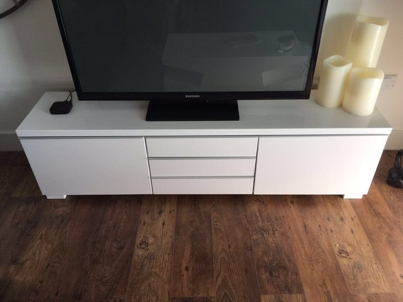 Wonderful Favorite White Gloss TV Stands With Drawers In Gloss White Tv Stand Home Design Ideas (Image 46 of 50)