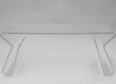 Wonderful High Quality Acrylic Coffee Tables With Magazine Rack Pertaining To Pfeiffer Style Mag Clear Transparent Coffee Table Mid Century (View 22 of 40)