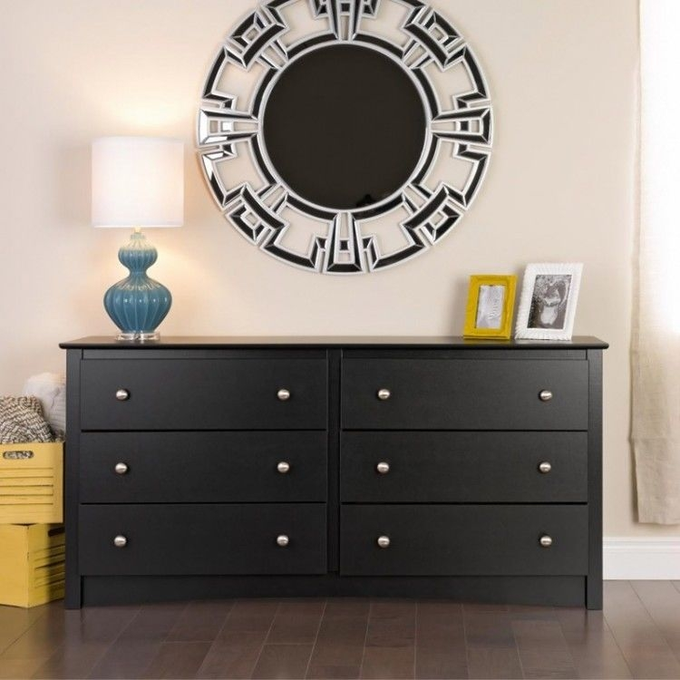 Wonderful High Quality Black TV Stands With Drawers Within Bedroom Furniture Dresser Tv Stand 6 Storage Drawer Solid Black (Image 50 of 50)