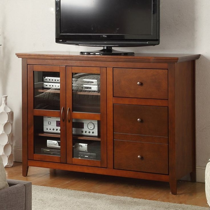 Wonderful High Quality Black TV Stands With Glass Doors With Regard To Tv Stands Interesting Highboy Tv Console Highboy Tv Console (Image 46 of 50)