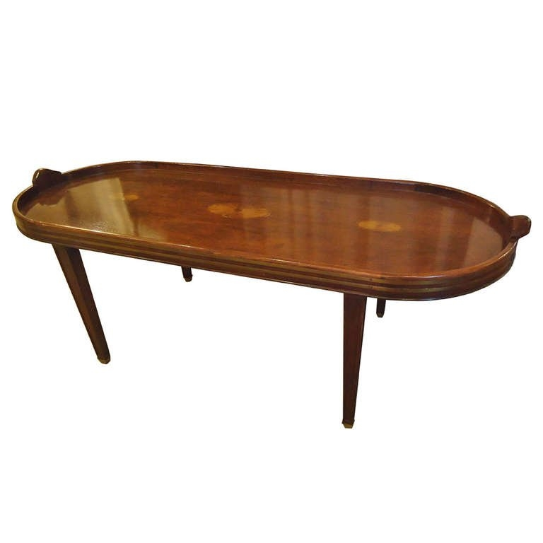 Wonderful High Quality Campaign Coffee Tables Inside Campaign Style Mahogany Oblong Coffee Table At 1stdibs (Image 47 of 50)