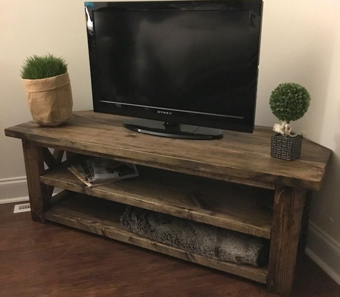 Featured Image of Dark Brown Corner TV Stands