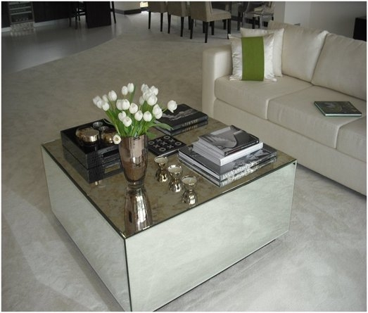 Wonderful High Quality Floating Glass Coffee Tables For Mirrored Glass Coffee Table Worldtipitaka (Image 46 of 50)