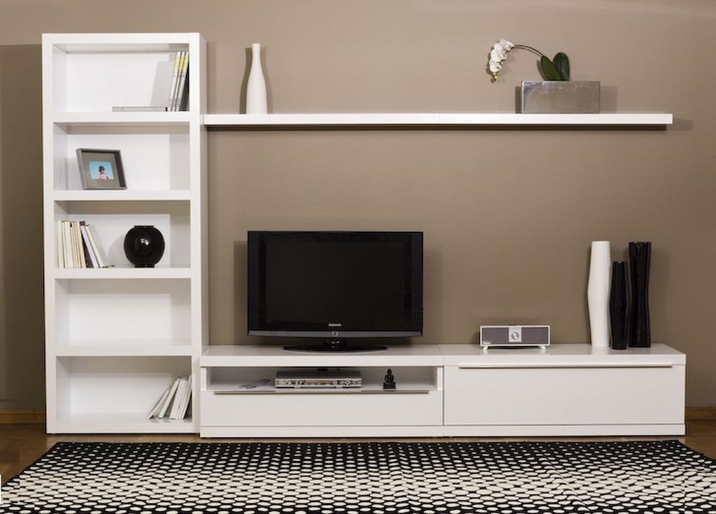 Wonderful High Quality L Shaped TV Cabinets With Ikea White Tv Stand Sweet Couple For Minimalism Homesfeed (Image 49 of 50)
