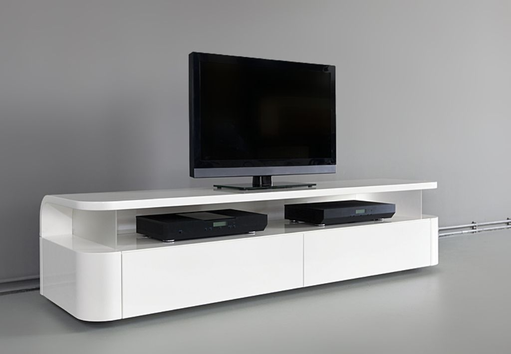 Wonderful High Quality Long White TV Stands Pertaining To Ikea White Tv Stand Sweet Couple For Minimalism Homesfeed (Image 48 of 50)