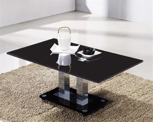 Wonderful High Quality Rectangle Glass Chrome Coffee Tables With Black Glass Coffee Table (View 34 of 50)