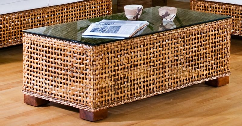Wonderful High Quality Round Woven Coffee Tables Inside Round Wicker Table With Glass Top Starrkingschool (Image 49 of 50)