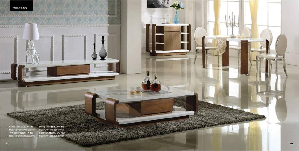 Wonderful High Quality TV Stand Coffee Table Sets Inside Popular Wood Tv Table Set Buy Cheap Wood Tv Table Set Lots From (View 4 of 50)