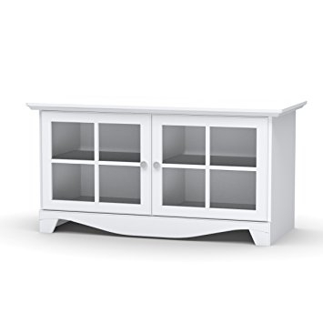 Wonderful High Quality TV Stands White Intended For Amazon Pinnacle 49 Tv Stand 100403 From Nexera White (View 12 of 50)