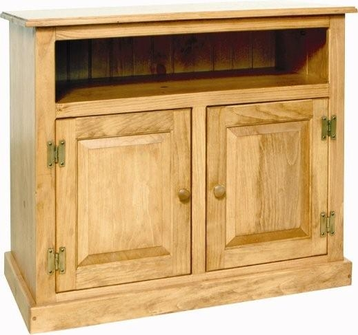Wonderful High Quality Wooden TV Stands With Doors Within Pine Wood Small Tv Stand (Image 50 of 50)